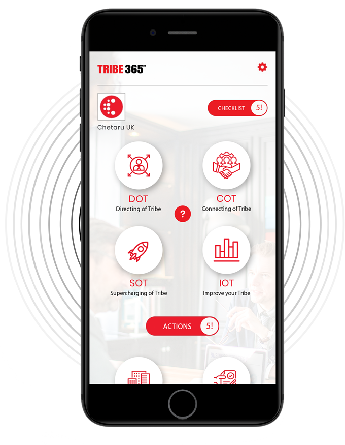 Tribe 365 app homepage